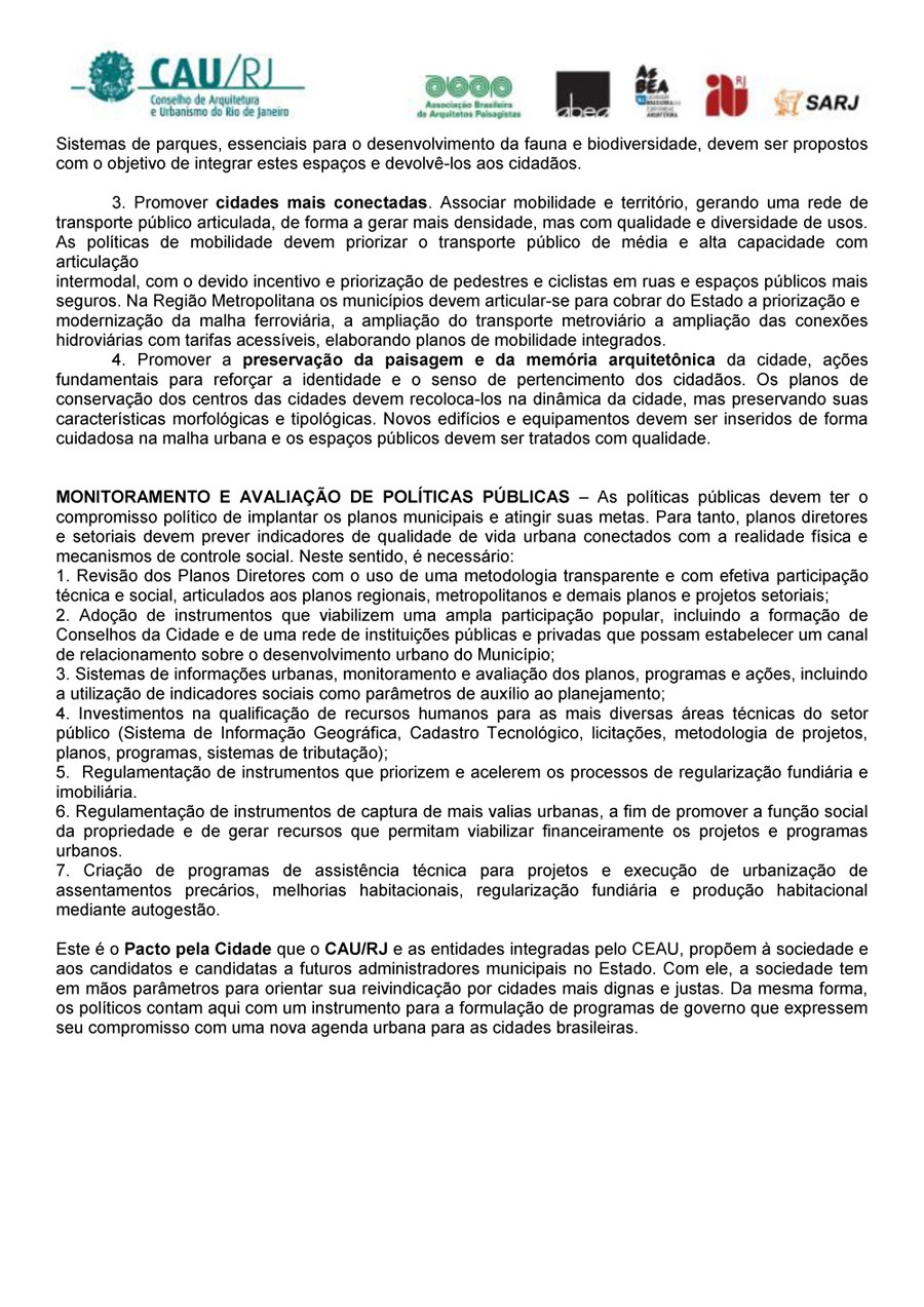 Carta aberta aos (às) candidatos (as) a prefeitos (as) do Estado